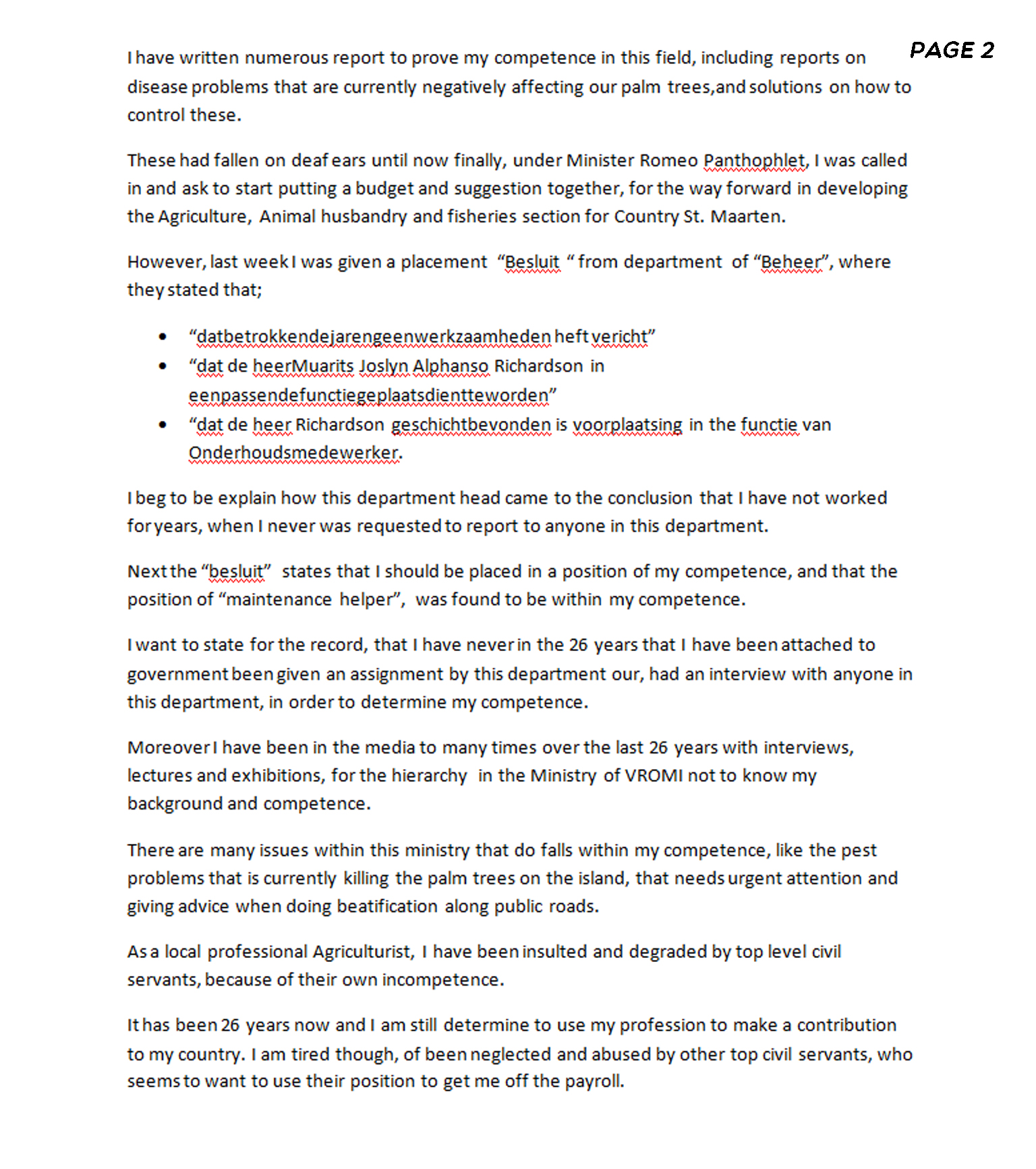 to the council of ministers page 2